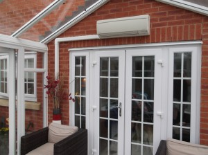 Domestic Air Conditioning unit installed in conservatory