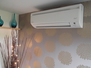 Domestic Air Conditioning unit installed in bedroom
